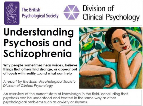 Official launch of the Division's new report 'Understanding Psychosis and Schizophrenia'
